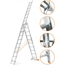 Лестница трехсекционная Эйфель Гранит 3х10