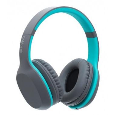 Bluetooth-наушники серо-бирюзовые Celebrat A18