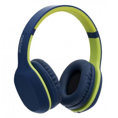 Bluetooth-наушники сине-зеленые Celebrat A18