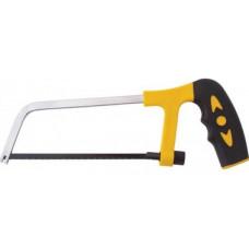 Ножовка по металлу мини 15 см пластиковые прорезиненные ручки FIT 40026