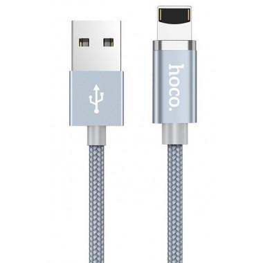USB кабель магнитный серый 1.2 м для Lightning Hoco U40A