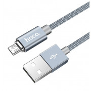 USB кабель магнитный серый 1.2 м для microUSB Hoco U40A