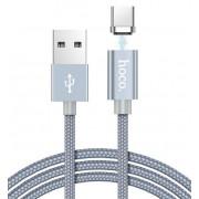 USB кабель магнитный серый 1.2 м для Type-C Hoco U40A