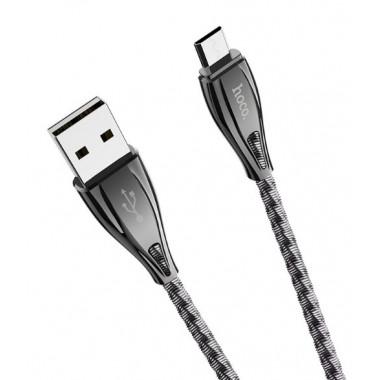 USB кабель черный 1.2 м для microUSB Hoco U56