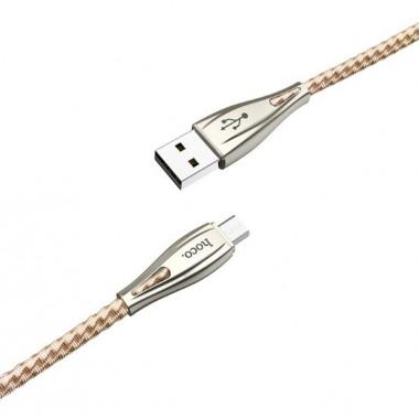 USB кабель золотой 1.2 м для microUSB Hoco U56