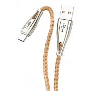 USB кабель золотой 1.2 м для Type-C Hoco U56