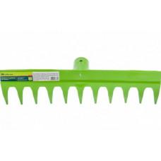 Грабли полимерные 11 плоских зубов с ребром жесткости Palisad 61736