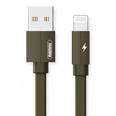 USB дата-кабель 1 м хаки для iPhone Remax RC-094i