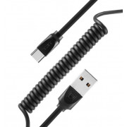 Кабель USB черный 1 м Type-C Remax RC-117a