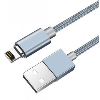 USB кабель магнитный серебристый 1.2 м для iPhone Hoco U40A
