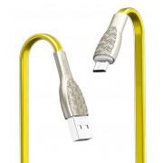 USB кабель золотой 1.2 м для microUSB Hoco U52