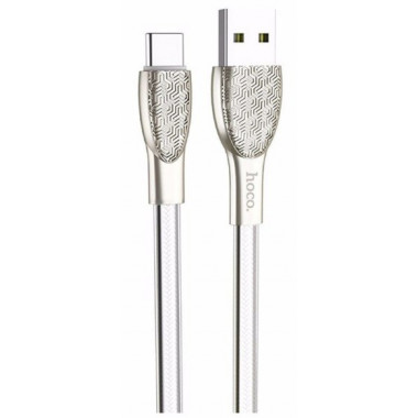 USB кабель серебристый 1.2 м Type-C Hoco U52