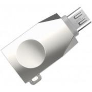 Адаптер microUSB to USB-A серебристый HOCO UA10