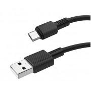 USB кабель черный 1 м microUSB Hoco X29