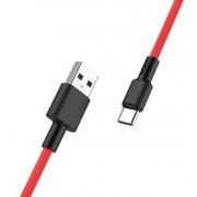 USB кабель красный 1 м Type-C HOCO X29