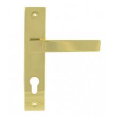 Ручка дверная на планке 109-70 мм золото НОРА-М ЦБ000010562