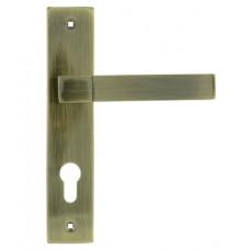 Ручка дверная на планке 109-70 мм старая бронза НОРА-М ЦБ000010564