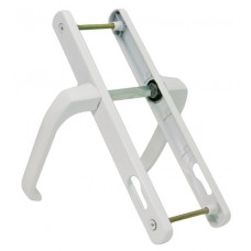 Ручка дверная алюминиевая 92/25 мм белая RAL9016 ЦБ000004162