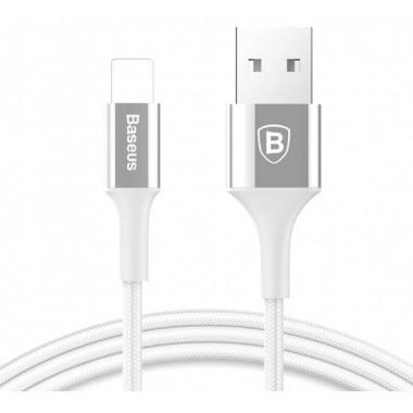 USB кабель Lightning 8 pin белый 100 см Baseus Mirror Metal CALSY-0S