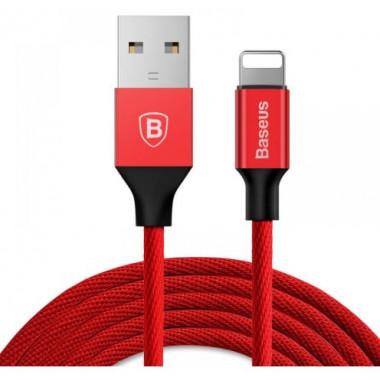 USB кабель iPhone 8 pin красный 120 см Baseus Yiven Cable CALYW-09