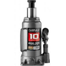 Домкрат гидравлический бутылочный 10 т 200-385 мм MIRAX 43260-10
