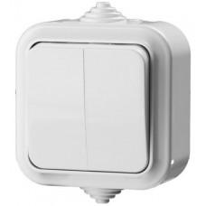 Выключатель двухклавишный IP54 6 А 220 В STAYER Master Maxima 54302-W
