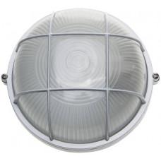 Светильник уличный влагозащищенный с решеткой круг белый 60 Вт СВЕТОЗАР SV-57255-W