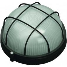 Светильник уличный влагозащищенный с решеткой круг черный 60 Вт СВЕТОЗАР SV-57255-B