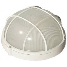 Светильник уличный влагозащищенный с решеткой круг белый 100Вт СВЕТОЗАР SV-57257-W
