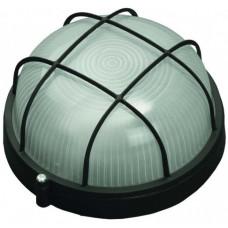 Светильник уличный влагозащищенный с решеткой круг черный 100Вт СВЕТОЗАР SV-57257-B