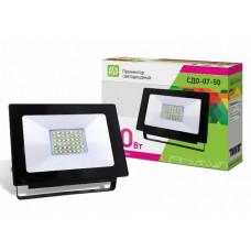 Прожектор светодиодный черный IP65 ASD СДО-07-50 4690612016429