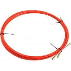 Протяжка кабельная в бухте 10 м красная REXANT 47-1010