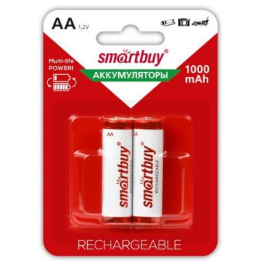 Аккумулятор NiMh AA/2BL 1000 mAh Smartbuy SBBR-2A02BL1000