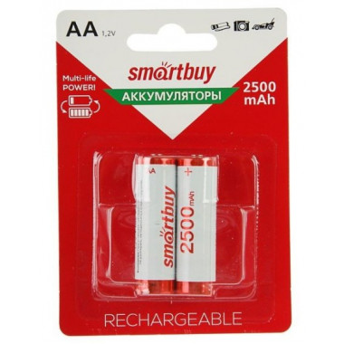 Аккумулятор NiMh AA/2BL 2500 mAh Smartbuy SBBR-2A02BL2500