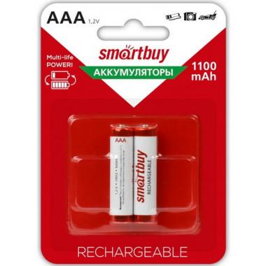 Аккумулятор NiMh AAA/2BL 1100 mAh Smartbuy SBBR-3A02BL1100