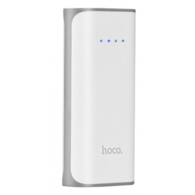 Аккумулятор внешний Power Bank белый 5200 mAh HOCO B21