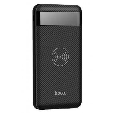 Аккумулятор внешний Power Bank с беспроводной зарядкой черный 10000 mAh HOCO J11