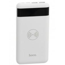 Аккумулятор внешний Power Bank с беспроводной зарядкой белый 10000 mAh HOCO J11