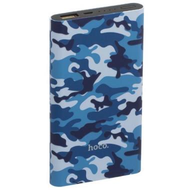 Аккумулятор внешний Power Bank синий камуфляж 10000 mAh HOCO J9