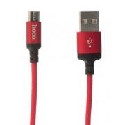Кабель microUSB красный 2 м HOCO Micro Cable X14