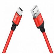 Кабель USB красный 2 м Type-C HOCO X14