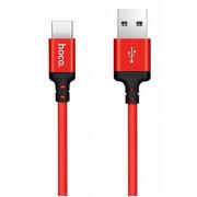 Кабель USB красный 1 м Type-C HOCO X14