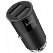 Адаптер в прикуриватель черный 2 USB 3.1 A HOCO Z17A