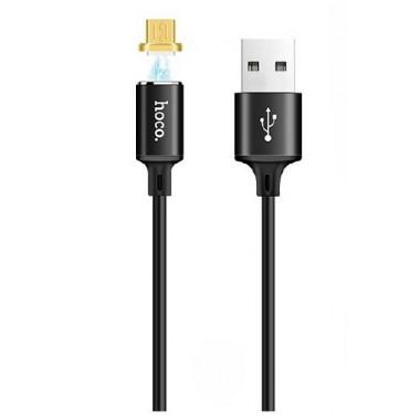 USB кабель магнитный черный 1 м для microUSB Hoco U28