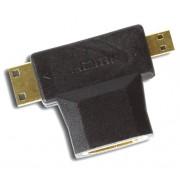 Адаптер HDMI F-miniHDMI M-microHDMI M Smartbuy A119/1000