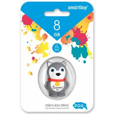 USB накопитель 8 GB Smartbuy Wild series Собачка SB8GBDgr
