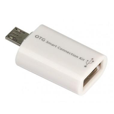 Адаптер micro-USB в USB-A белый Smartbuy SBR-OTG-W