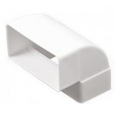 Колено вертикальное пластик 90 градусов 55х220 мм Эра 522КВП