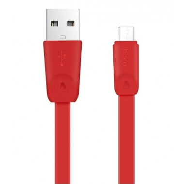 USB кабель красный 1 м для microUSB Hoco X9