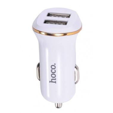 Адаптер в прикуриватель белый кабель iPhone Hoco Z1